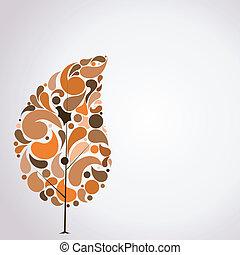 Vector illustration of abstract autumn tree