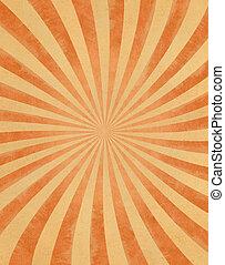 Vintage Sunbeams on Paper - A curved sunbeam pattern on...