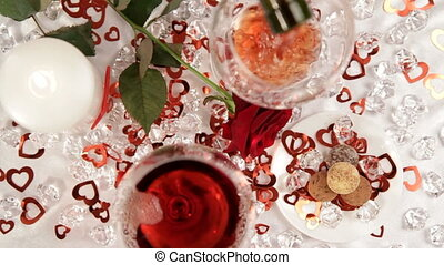 Glass of wine - Two wine glasses filled with red wine