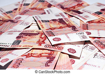 banknotes value five thousand rouble
