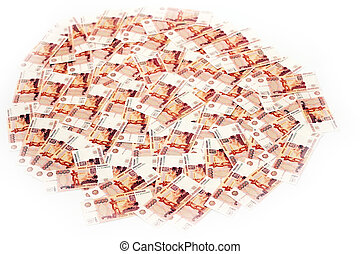 money - banknotes value five thousand rouble