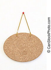 cork board - Blank cork board hang on the wall background