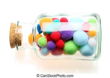 algodón, pelotas