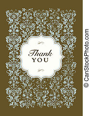 Vector Thank You Frame and Pattern