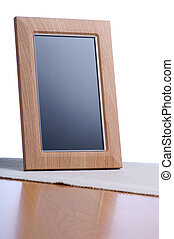 photoframe - clean photoframe on the table in white...