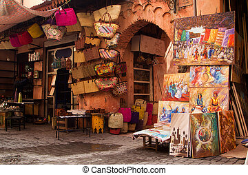 Old medina art street shop - Standard Medina shop in...