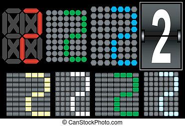 Font Set 4 Digital Display Number 2