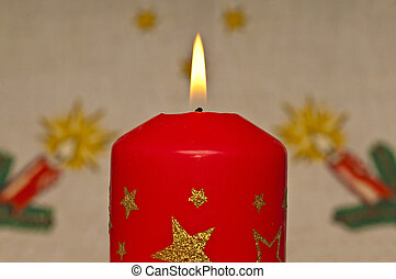 candlelight with Christmas background