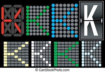 Font Set 4 Digital Display Letter K