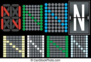Font Set 4 Digital Display Letter N