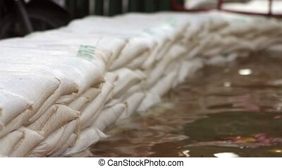Sandbags to stop flood