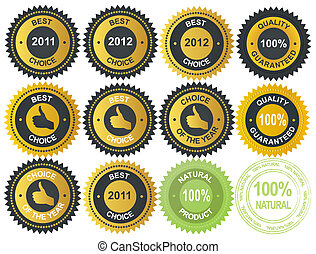 Best choice golden vector label