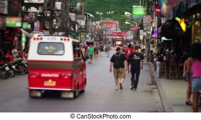Massage streets of Phuket, Thailand - Massage streets of...