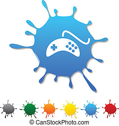 Gamepad blot - Gamepad blot icon Vector illustration