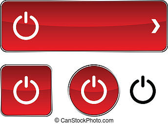 Switch button set. - Switch web buttons. Vector...