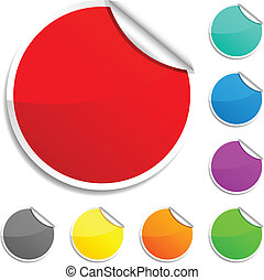 Round stickers. - Set of round glossy stickers.
