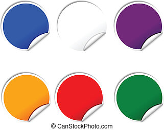 Web buttons - Web shiny buttons Vector illustration