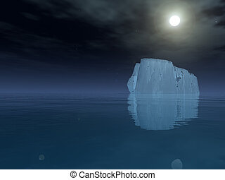 Iceberg in open sea - High Resolution Iceberg in open sea