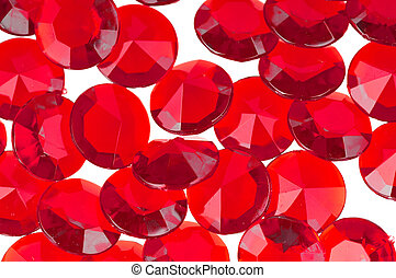 Red background - The red crystal on a white background