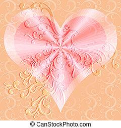 Pink valentines background