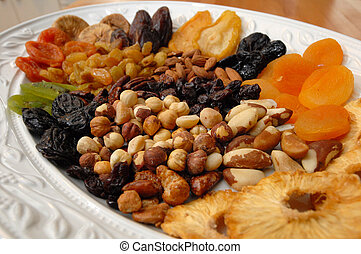 Dried Fruit and Nuts - A selection of dried fruit and nuts...