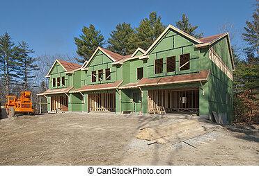 New condo construction - Small condo construction in the...