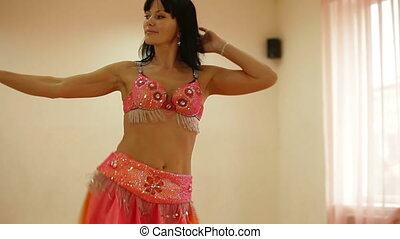 Belly Dancer in Dance Studio