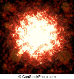 abstract explosion background - Powerful explosion with...