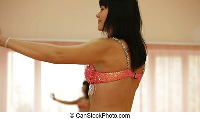 Belly Dancing  - Belly Dancer Practicing in Dance Studio