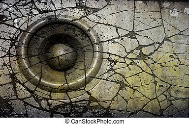 HD 3d render grunge old speaker sound system deejay DJ
