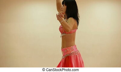 Belly dancer in Dance Studio, Medium Shot