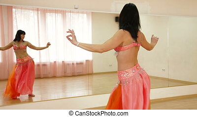 belly dance class - Dancing Woman in Dance Studio
