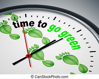 time to go green - An image of a nice clock with time to go...