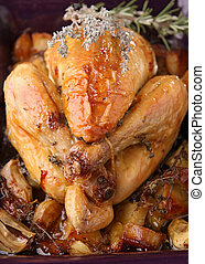 roast chicken - roasted chicken and potato