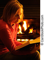 Bible Reading - A Mature Woman Reading The Bible By...