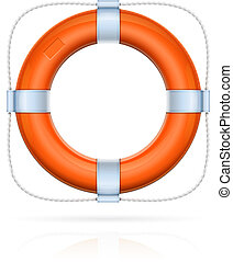 red life buoy with rope