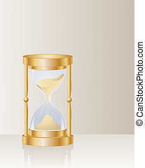 hour glass - an illustration of an ornamental hour glass...