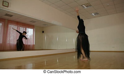 Dancing Woman in Dance Studio
