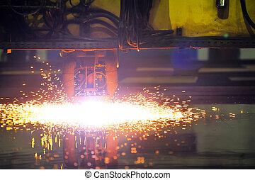plasma, corte, CNC, máquina