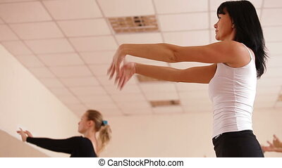 Women Exercising in Dance Studio