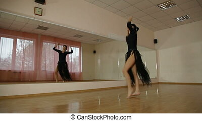 Modern Dance School - Woman perform modern dance at the...