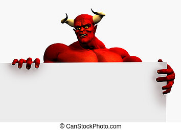 Devil with Sign Edge