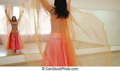 Belly Dancing in Dance Studio