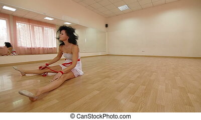 Dancer practicing modern dance