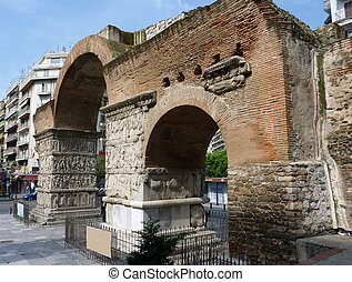 Arch of Galerius, Thessaloniki, Macedonia, Greece - Side of...