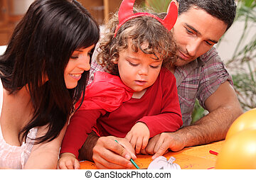 Family spending time together