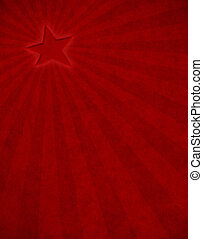 Red Star Sunbeam - A glowing red star with subtle light rays...