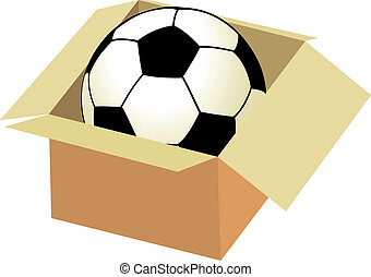 Soccer ball in the box
