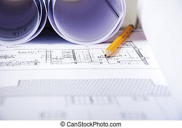 cianografia, Documenti, matita