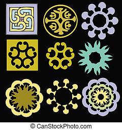 various ornaments - vector